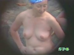 美 熟女 露天 風 呂 mujer al aire libre baño Vol.3