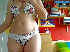 Sexy tiener strippen op Webcam