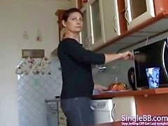 Venäjän Äiti ja poika Kotitekoinen