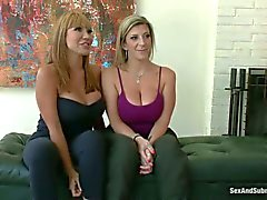 Police women Ava Devine and Sara Jay get punished