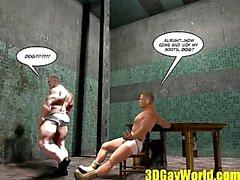 Sadomaso Homosexuell Fisting Geschichte Karikatur 3D Anime Comic