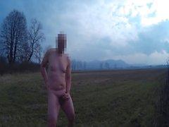 Nach dem Orgasmus wird von privaten Wachmann gejagt nackt