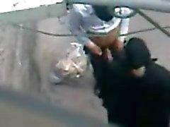 Arabische Hijab huisvrouw Caught Whoring - Voyeur