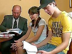 Könet lektion med kåta lärare