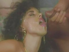 80s threesome porn with curly haired babe