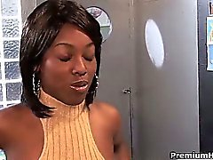 Ebony candies Angel Banxxx and Sydney Capri having some