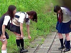 【JAPAN】 peeing peeing pii pis kız öğrenci sevimli