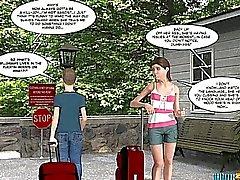 Fumetti 3D di hippy di Hills Episodio 1