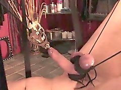 Rough domme whipping suspended subject