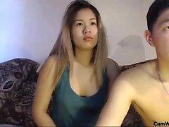 Casal coreano porra hardcore na fita de sexo amador