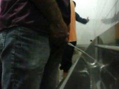 ragazzi brasiliane stessi urinando per festival musicale sei
