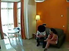 Hidden cam and hot fuck on the couch