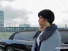 Sexy Hiusten väri Blondi Silmien Helvetin Ambassador Hänen Limo