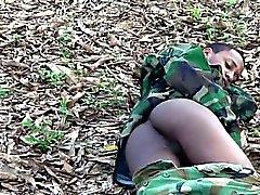 Jung Homosexuell Kommando Blinken im Freien