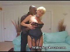 Voluptuous Blonde Fucks Black Friend
