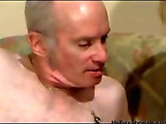 Grandpa fucks a tranny old babe and cums hard