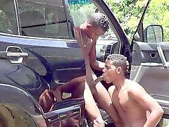 Giovani Senza Afro scoperta Fare sesso anale Senza preservativi