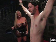 Holly Sweet fucks her slave boy