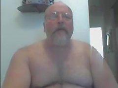 Hårigt naken farsa på I Webbkamera