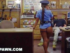 XXXPAWN - Sean Lawless fode Ms. Polícia No Backroom
