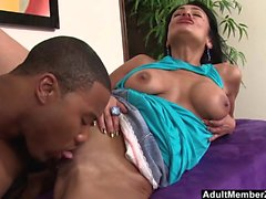 AMZ - Middle Eastern slut spreads for her first black cock