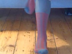 Gri eski Kısa çoraplar tatmin