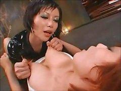 Japanska lesbisk nippel klämma bröstvårtan dra ENDAST