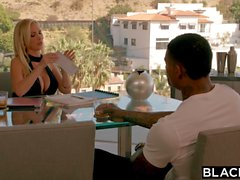 Busty babe Nikki Benz is ready to get blacked interracial