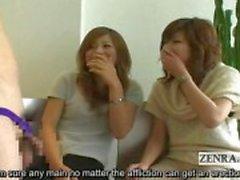 Tekstitetty Japanin CFNM phimosis masturbaatio puolue