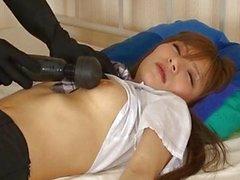 Cute Asian sleeping girl ottiene