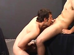 In a seedy backroom our hot jocks take to the glory holes
