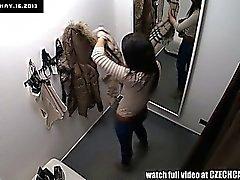 Voyeur Spycam красотка подросток брюнет Место Нижнее белье