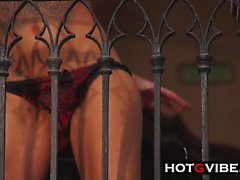 Juicy Squirts On Balcony