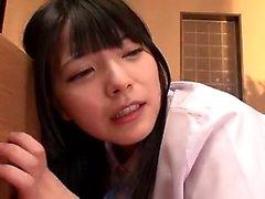 O japonês wam babe toyed em três andares