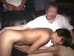 Thin latina Mya plays with a theater full of horny perverts