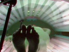 Abitare Spia Webcam di Masturbation con Solarium