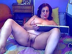 Griega abuelita de webcam