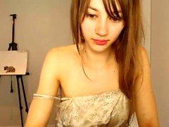 namorada adolescente amador suga dois galos no webcam