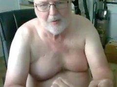 Opa Show vor der Webcam