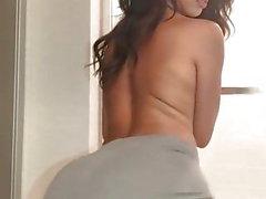 svart topless het tjej twerking