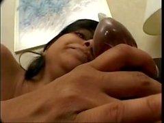 Esposa embarazada de Desi - consigue golpeada y Cummed