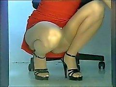 Cuclillas en las medias