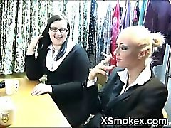 Humble Smoking Gal Wild Makeout