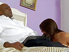 Black step daddy gets sucked off by Casey Cumz