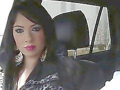 Omättlig älskande film könsbestämma i bilen