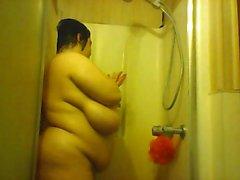 Webcam bbw solo shower