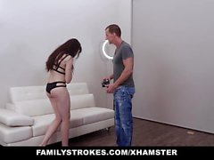 FamilyStrokes - Teen Barista Model Gets Fucked On Set By Pho