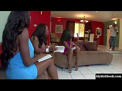 Diamond Jackson, Jada Fire and Monique are three lusty black MILFs who are