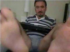 Straight guys feet on webcam #34