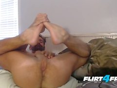 Brett King on Flirt4Free - Straight Hunk Plays with Ass and Monster Cock